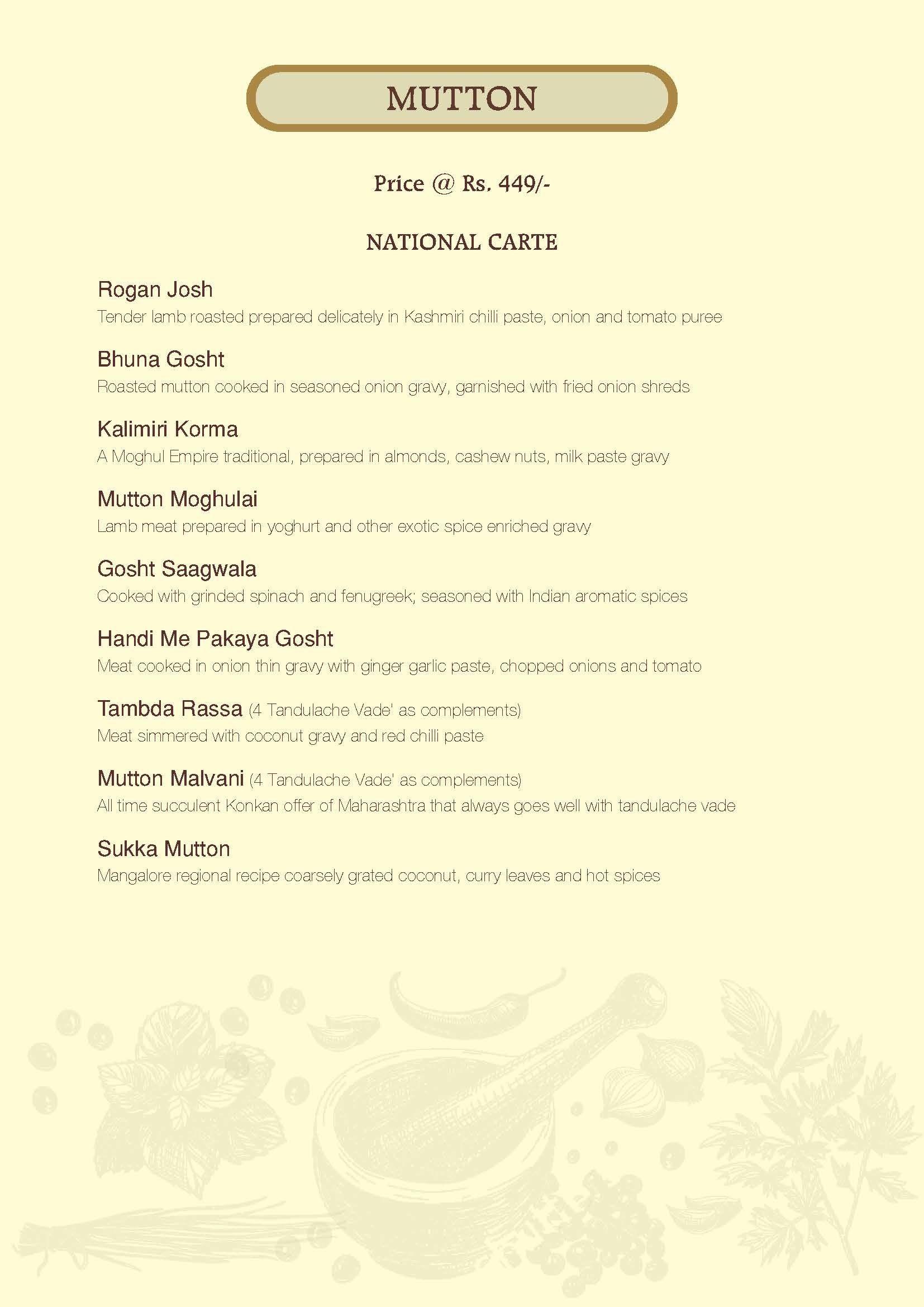 Menu of Navya, The Regale by Tunga, Mumbai, Mumbai | EazyDiner