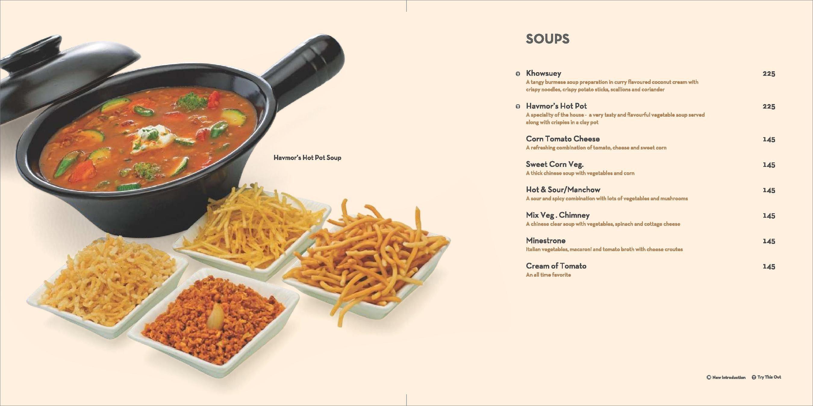 Menu of Havmor Restaurant , Gurukul, West Ahmedabad, Ahmedabad