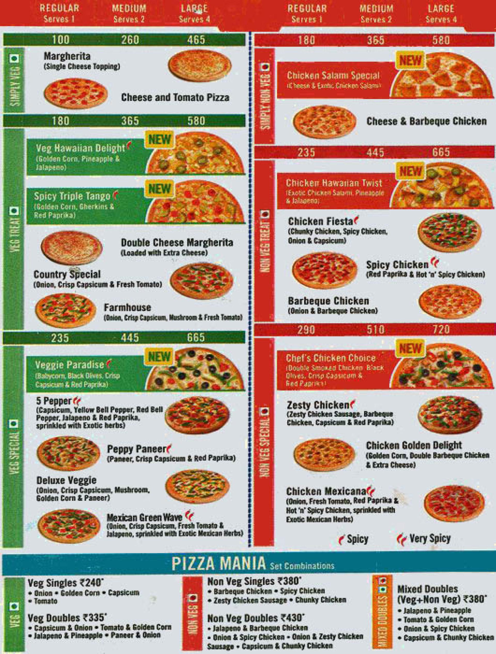 Menu Of Dominos Pizza Metro Junction Mall Kalyan Mumbai