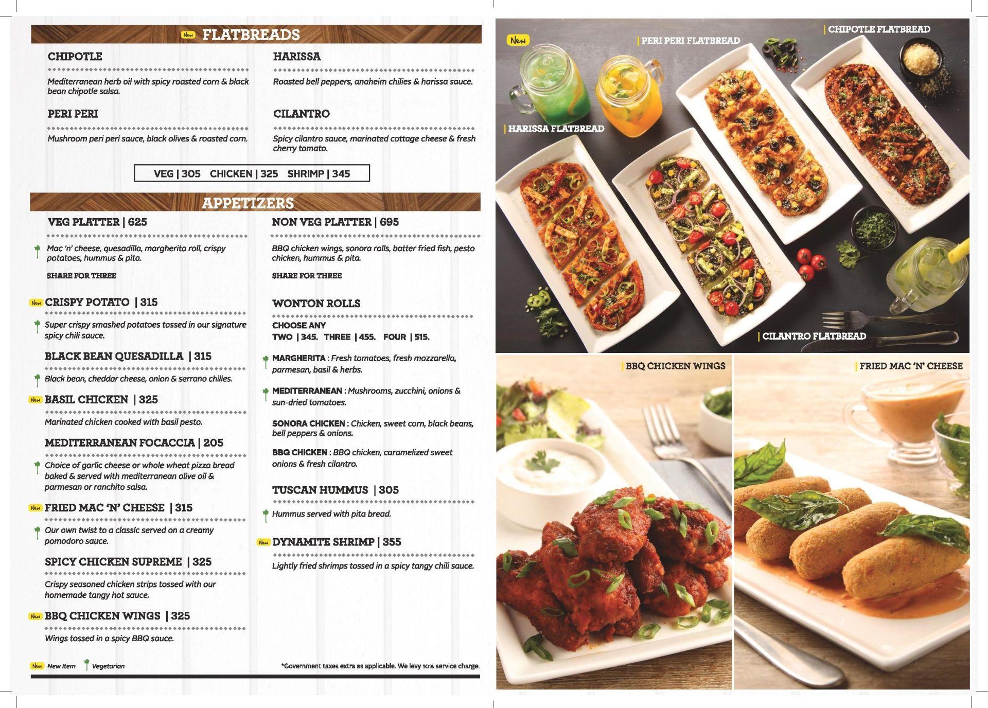california pizza kitchen menu infiniti mall malad west