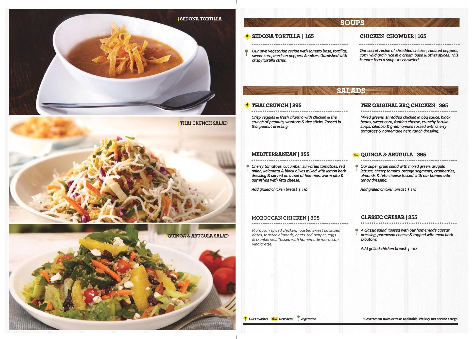 california pizza kitchen menu bandra kurla plex bkc western