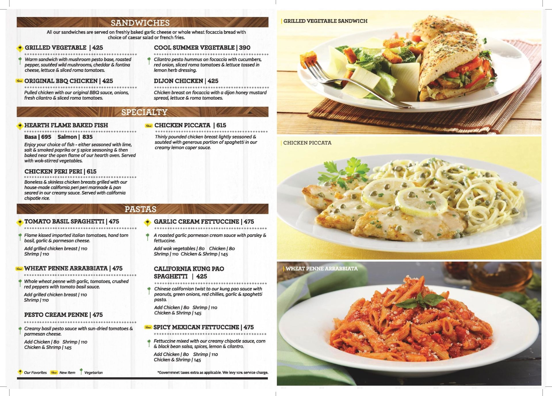california pizza kitchen menu infiniti mall malad west