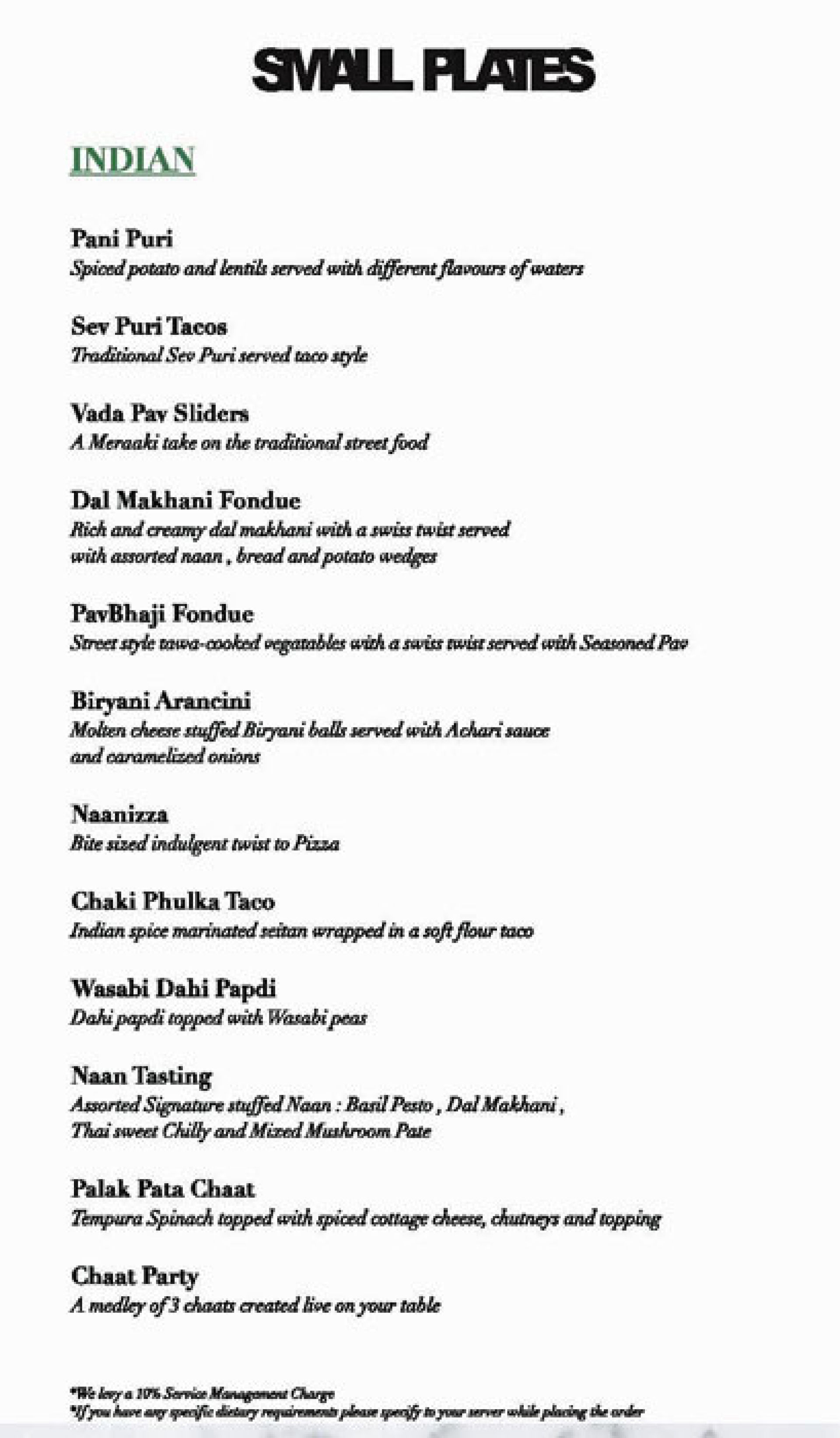Menu Of Meraaki Kitchen Civil Lines Jaipur Jaipur Eazydiner