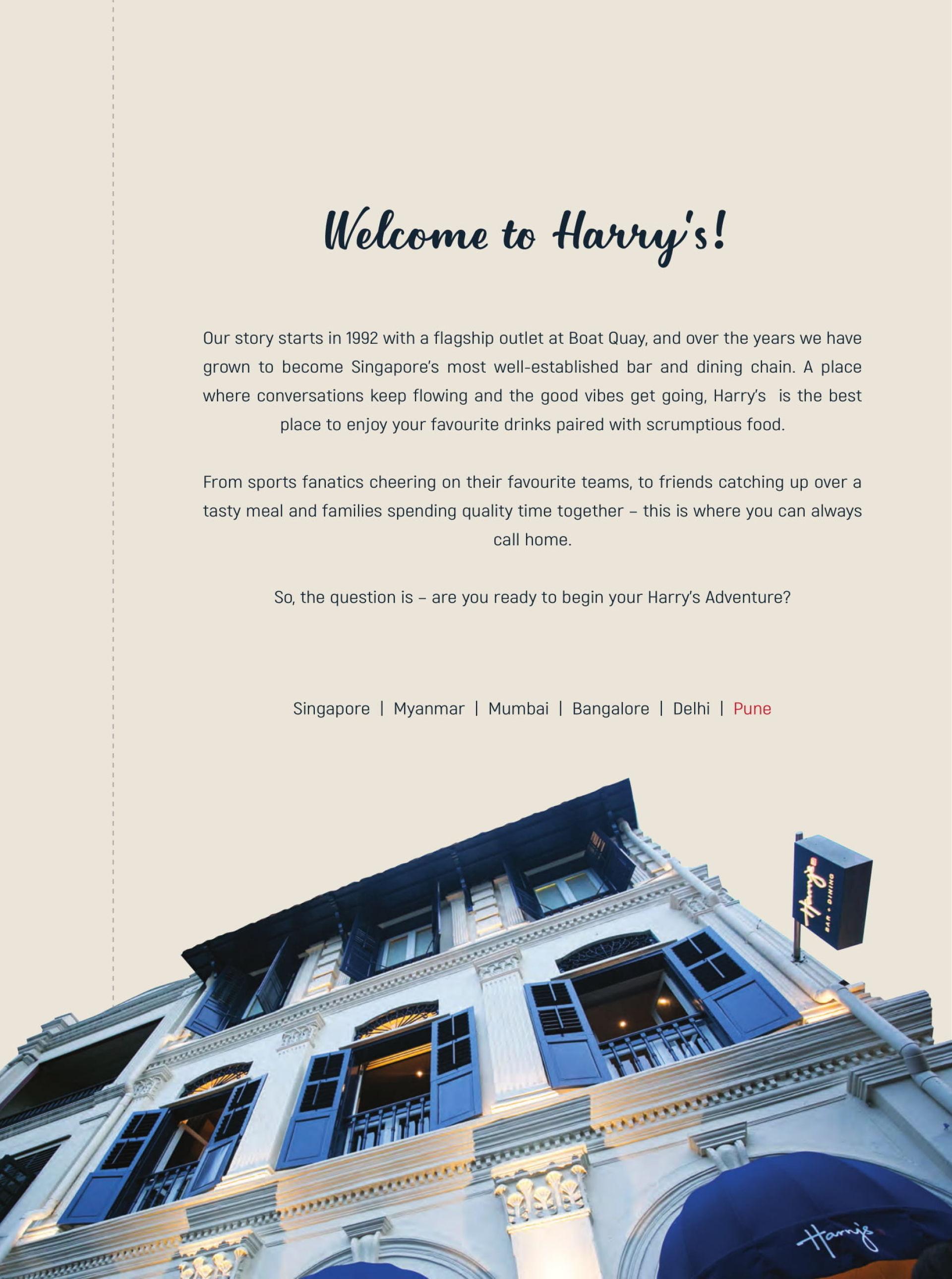 Harry S Bar Kitchen Koregaon Park Pune Pune Restaurant Menu