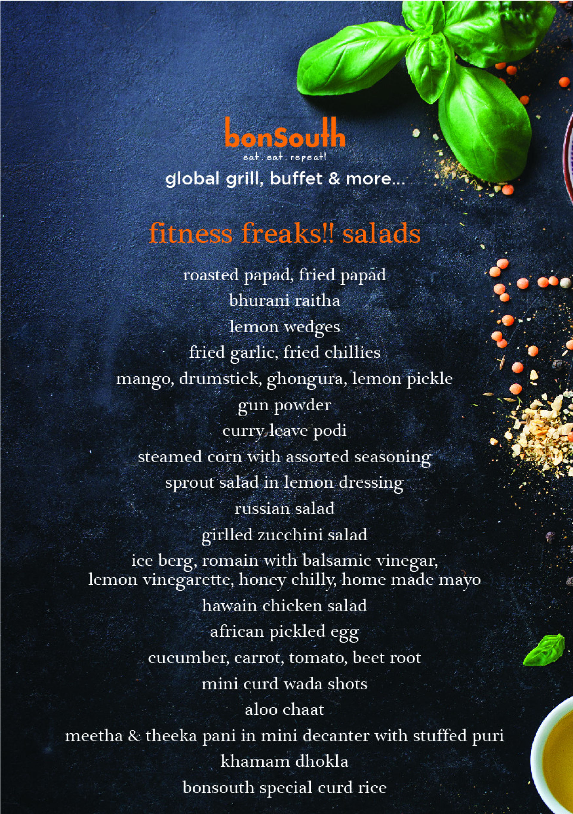 Menu Of Bonsouth Wakad Pune Pune Eazydiner