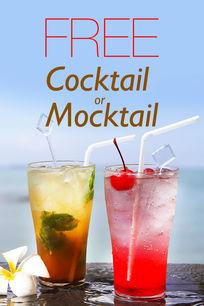 Free Cocktail or Mocktail