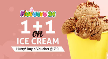 1+1 on Ice Cream at Flavours 24